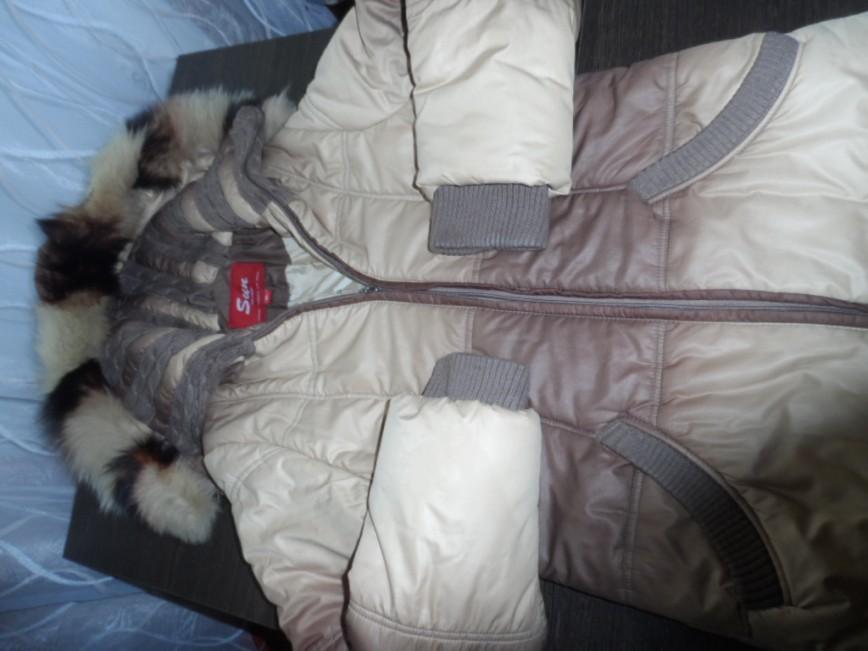 Пальто зимнее размер 44 фирма SAN с капюшоном длина 100 см. рукав 64 см. цена 1500=