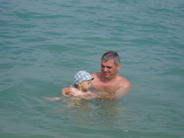 купаюсь с папой