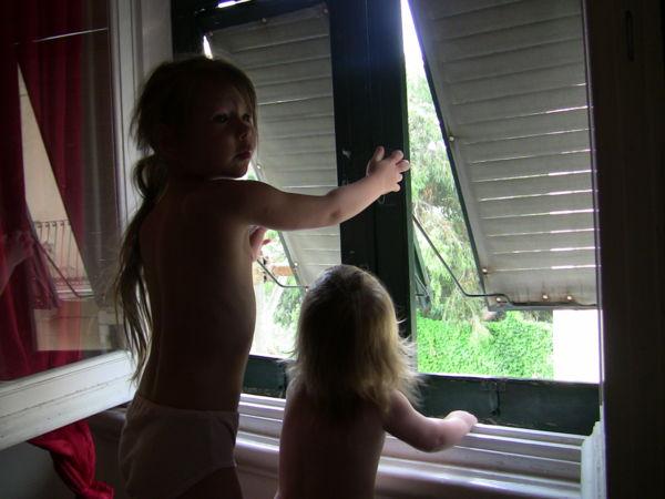 Утром, как проснулись - открыли окна.