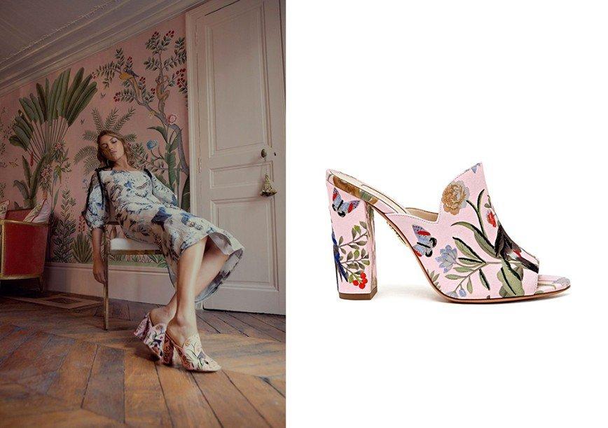 Рисунки с обоев перенесли на обувь