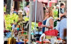 Беременная Жанна Фриске в Майами