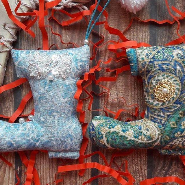 Домашние игрушки для новогодней елки: