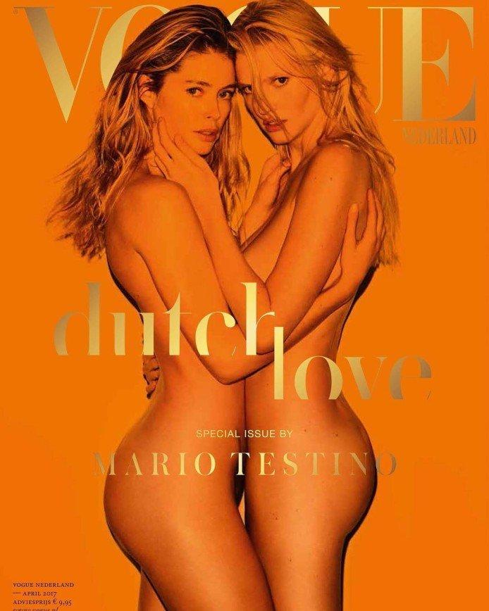 Оцените секс-обложку нового журнала Нидерландского Vogue