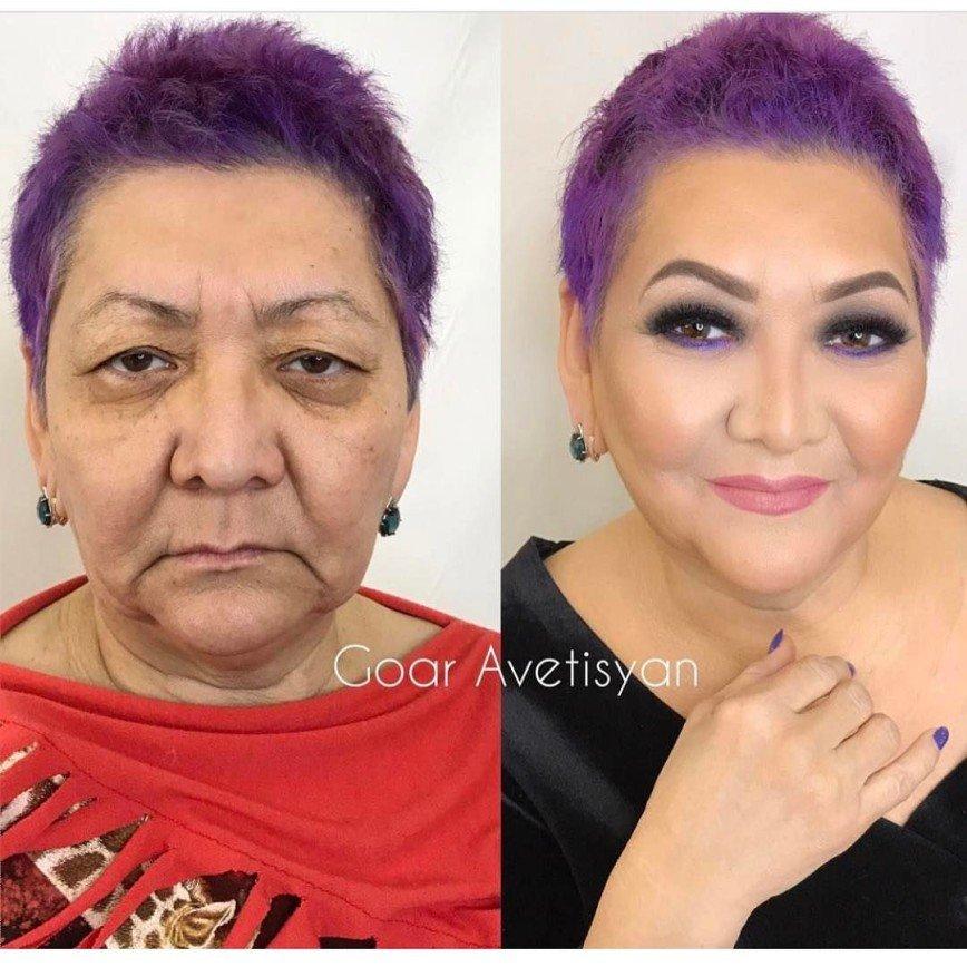 Чудеса грамотного макияжа продемонстрировали на маме Корнелии Манго:
