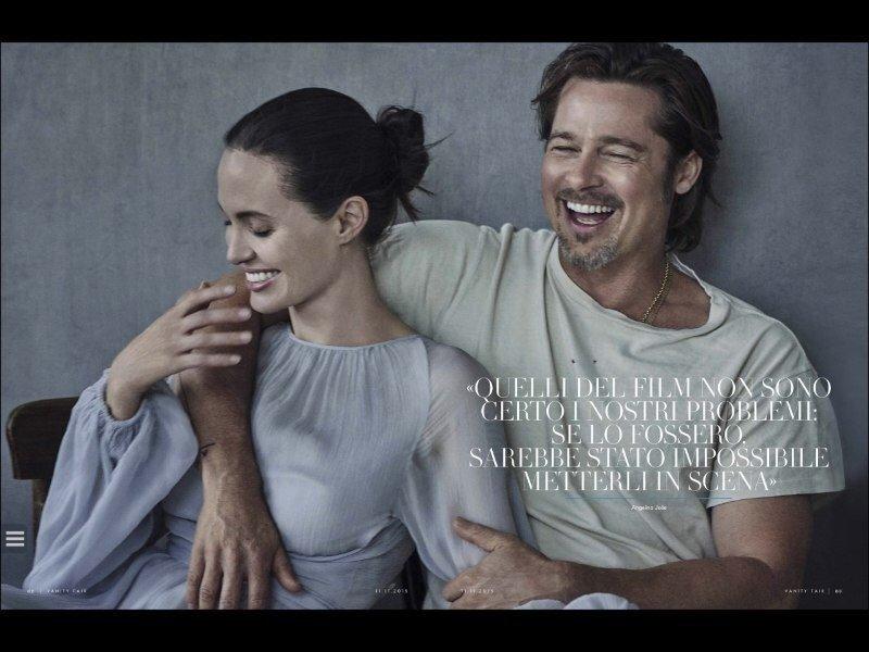 Анджелина Джоли и Брэд Питт для Vanity Fair Italy
