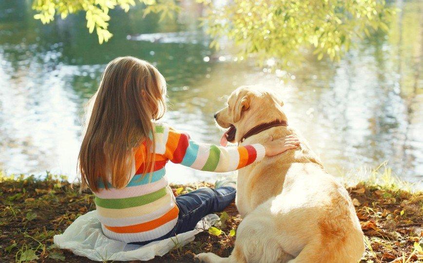 Домашние животные благотворно влияют на развитие детей