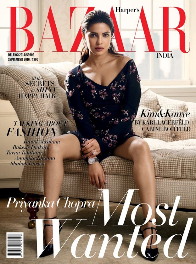 Приянка Чопра на обложке журнала Harper's Bazaar