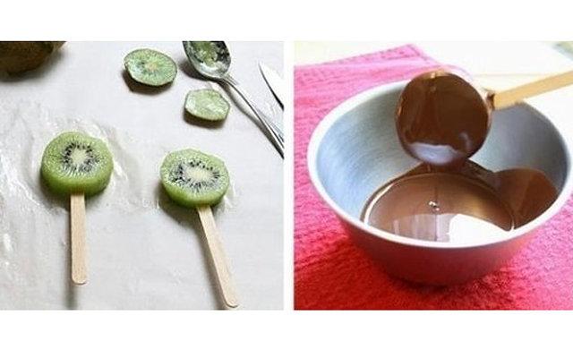 Киви в шоколадной глазури
