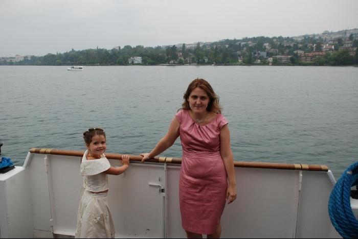 Мы на кораблике. Погода - жуть.