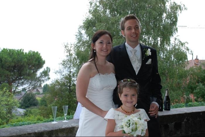 С женихом и невестой.