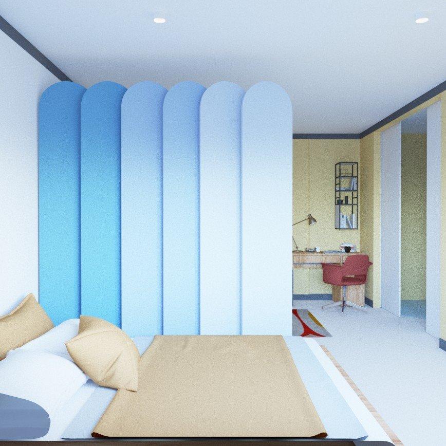 Автор: kristinadesigns, Фотозал: Мой дом, спальная - кабинет.  Дизайн интерьера. 8(916)516-81-45