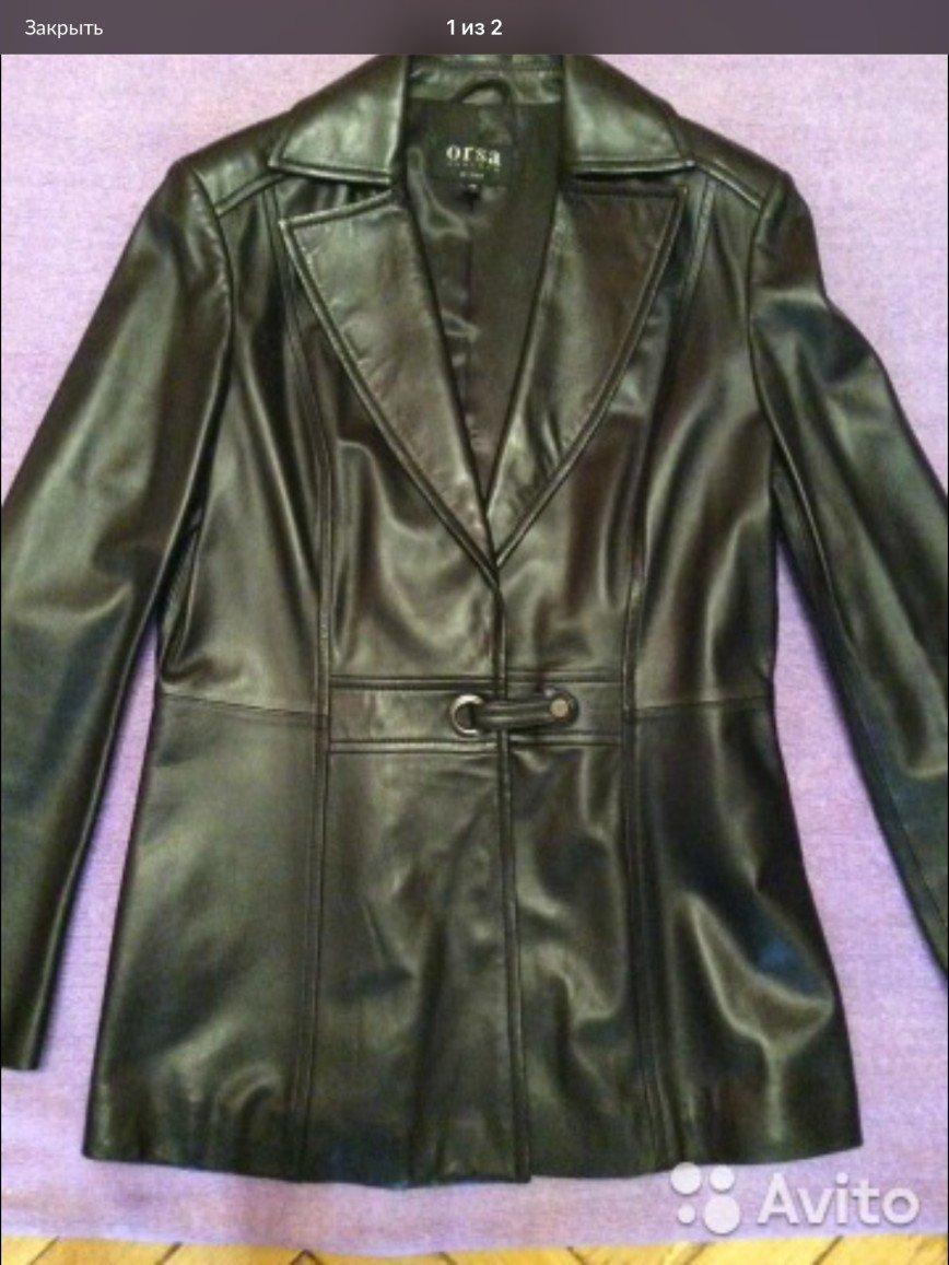 Куртка кожа. Покупка в Леди и Джент. р.44-46 Состояние идеальное.