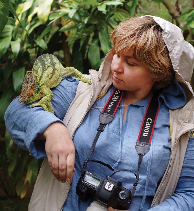 Я с хамелеоном Парсона, Мадагаскар