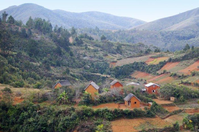 Типичный пейзаж центрального Мадагаскара