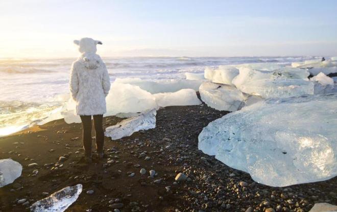 Рядом с ледяной лагуной Jokulsarlon