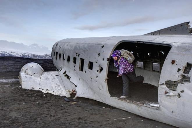 Останки военного самолета на юге Исландии