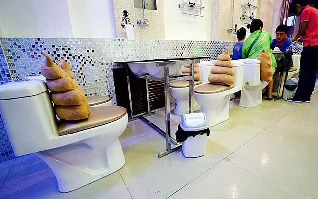 Ресторан в стиле уборной