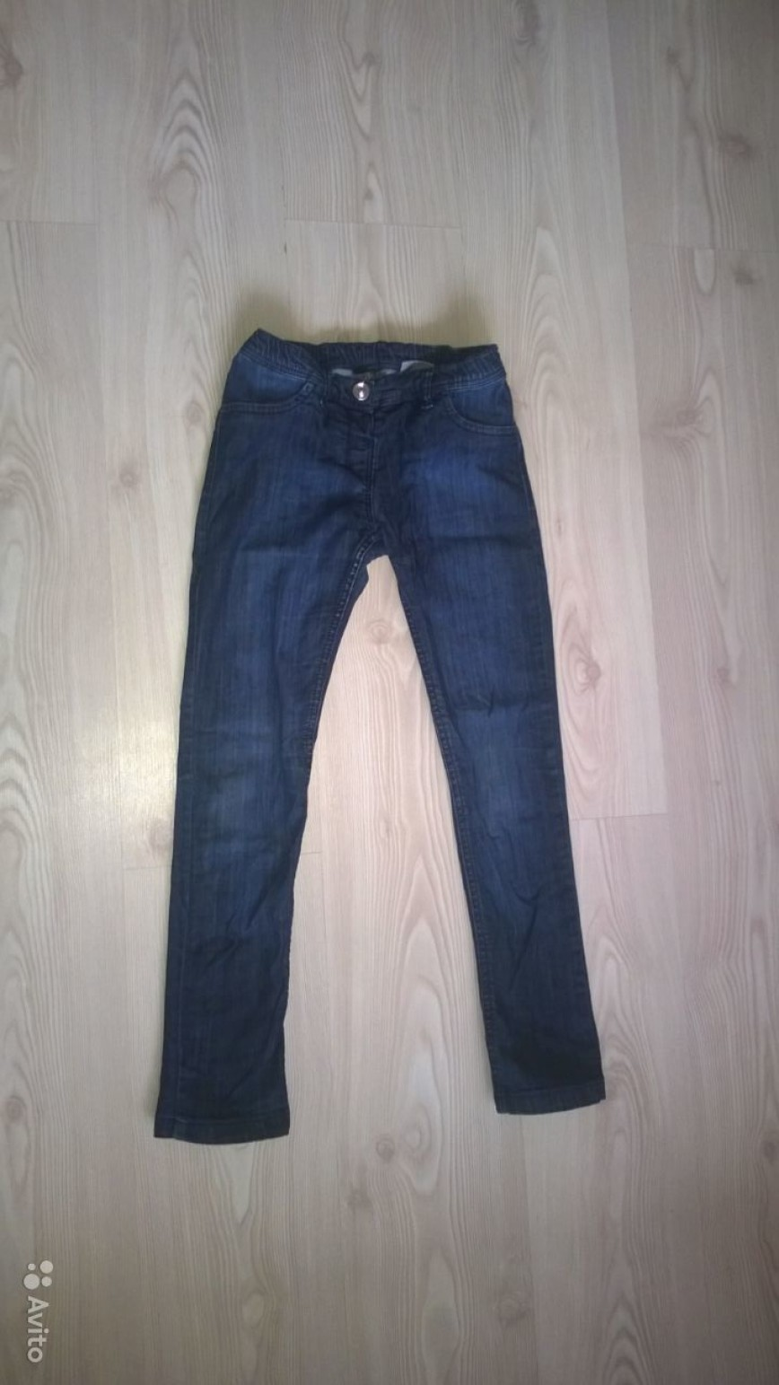 джинсы легкие, размер 140, 500 руб