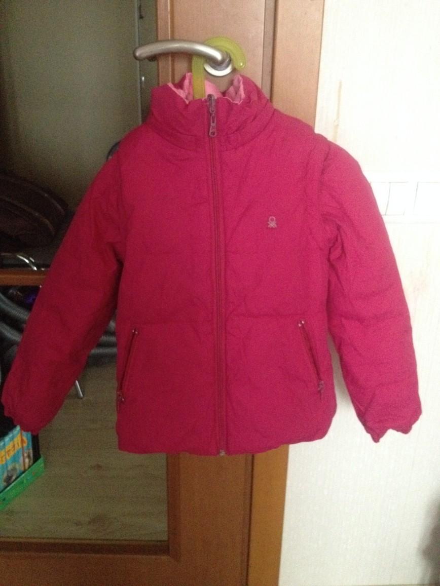 куртка бенеттон, 7-8 лет, 700 руб