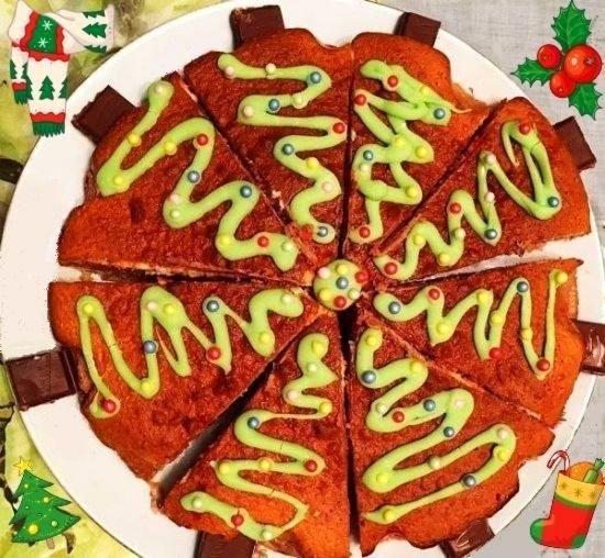 Автор: shocka, Фотозал: Мой дом, Мой тортик новогодний 2018)) Идею внешнего исполнения нашла на одном из кулинарных сайтов:)Семья была в восторге:)