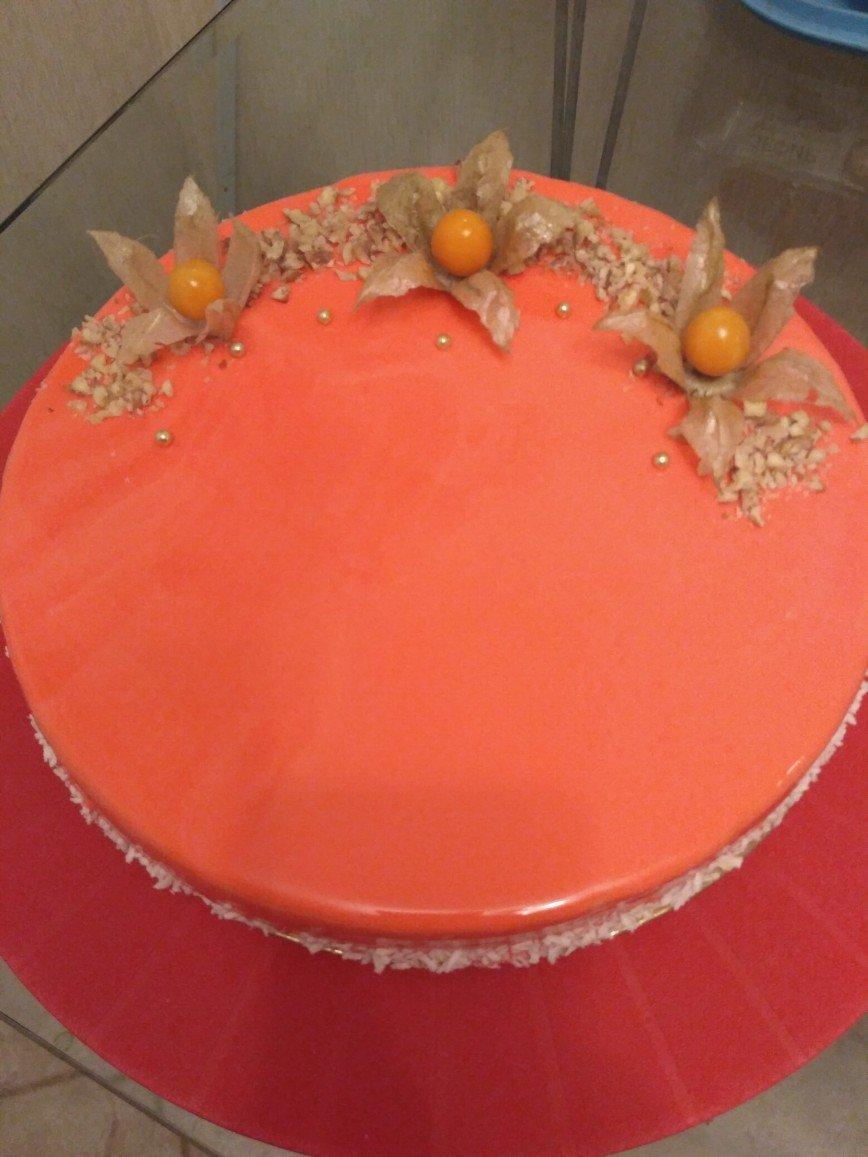 Муссовый вишневый торт