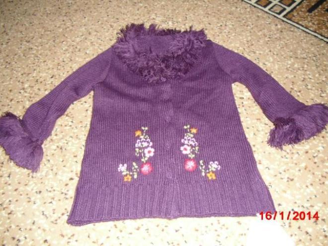 Очень нарядный кардиган Mothercare, с вышивкой, на стройного ребенка, новый, стоил 1650 руб. Продаю за 1000 руб. Маркировка 1,5 - 2 года
