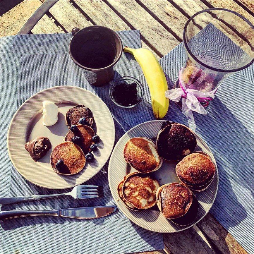Юлия Ковальчук употребляет на завтрак подгоревшие оладьи