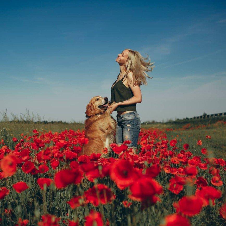 Потрясающая фотоистория  Юлии и ретривера Максимуса