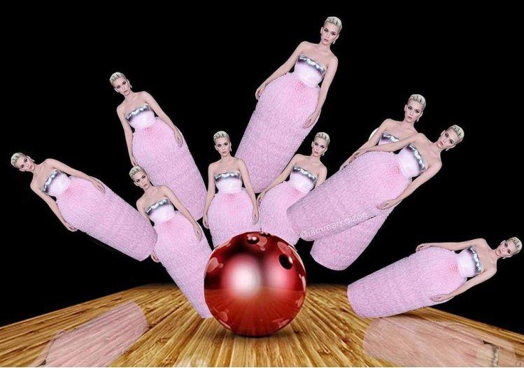 Платье Кэти Перри на Грэмми мгновенно превратилось в интернет-мем