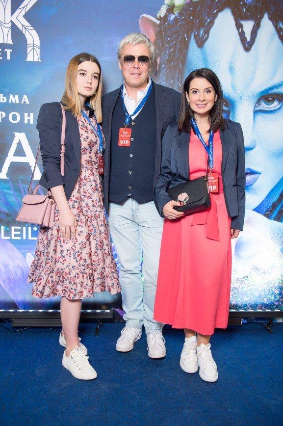 Дмитрий Шепелев, Тимур Родригез, Екатерина Стриженова на премьере нового шоу Цирка дю Солей
