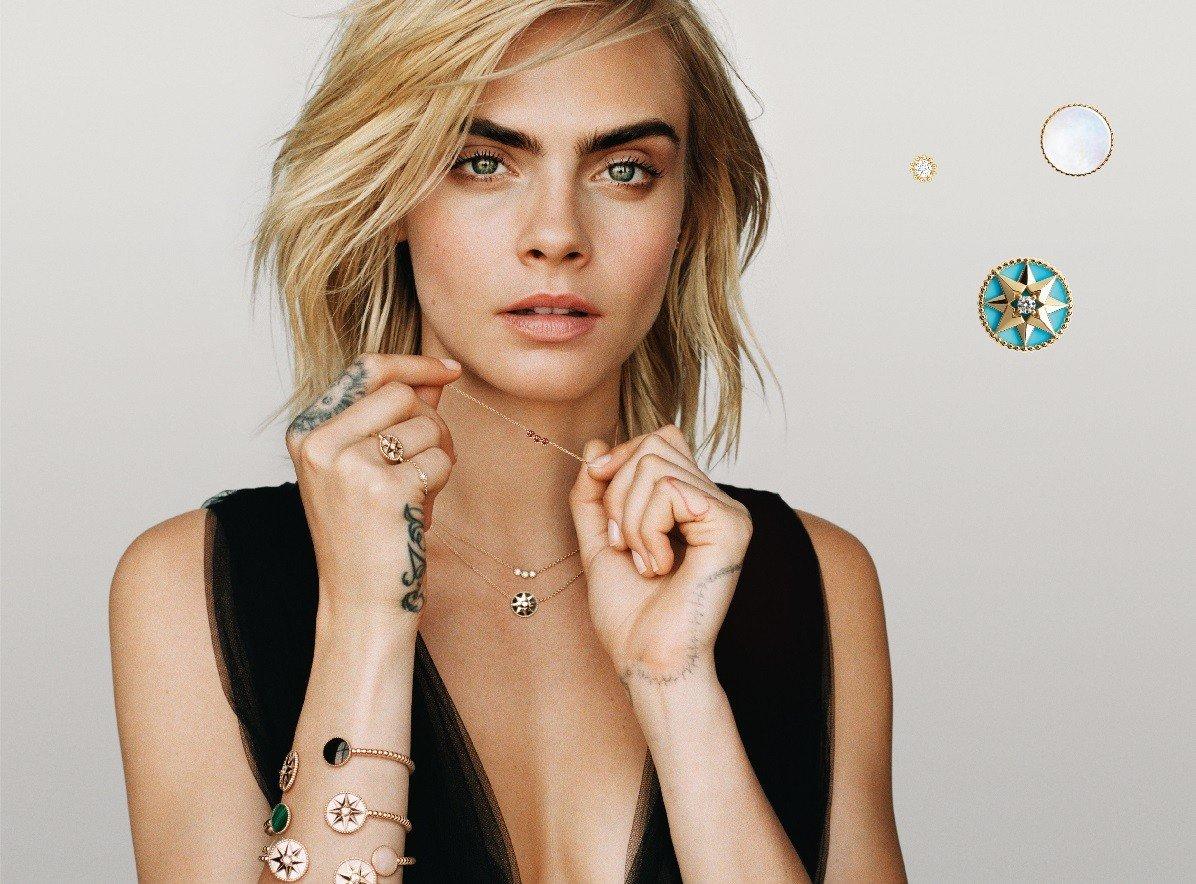 Кара Делевинь стала новым лицом ювелирной коллекции Dior