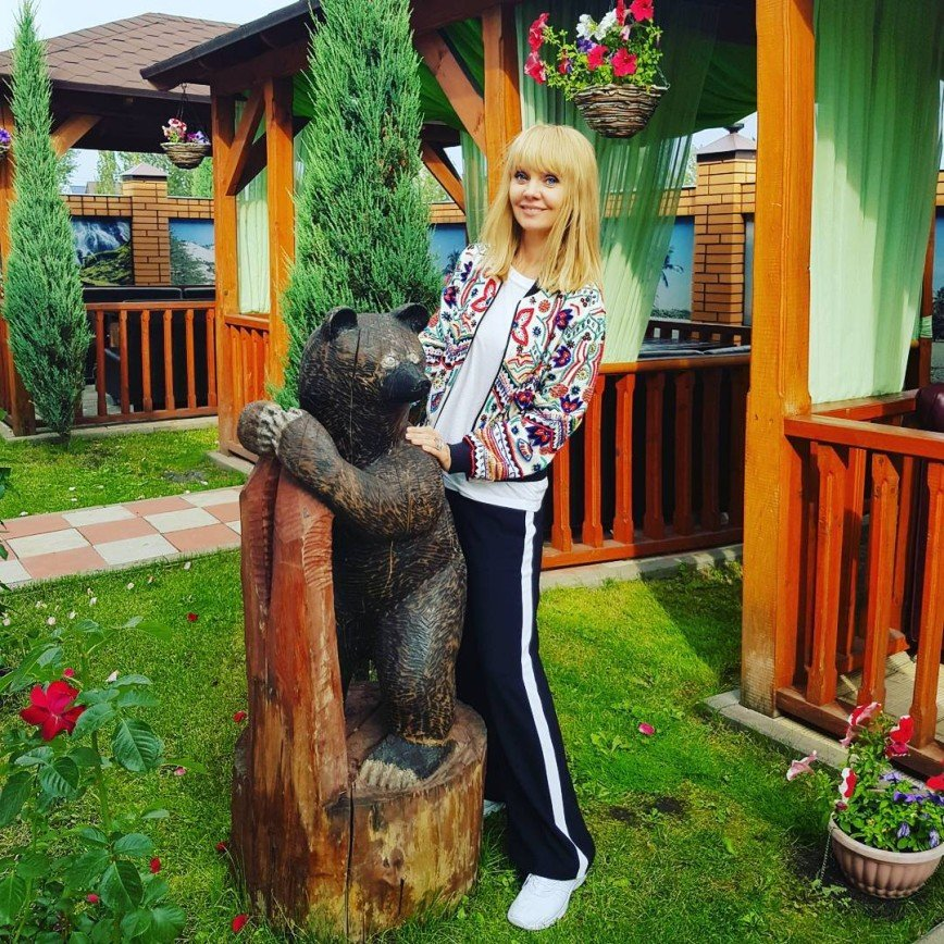 Валерия поймала медведя