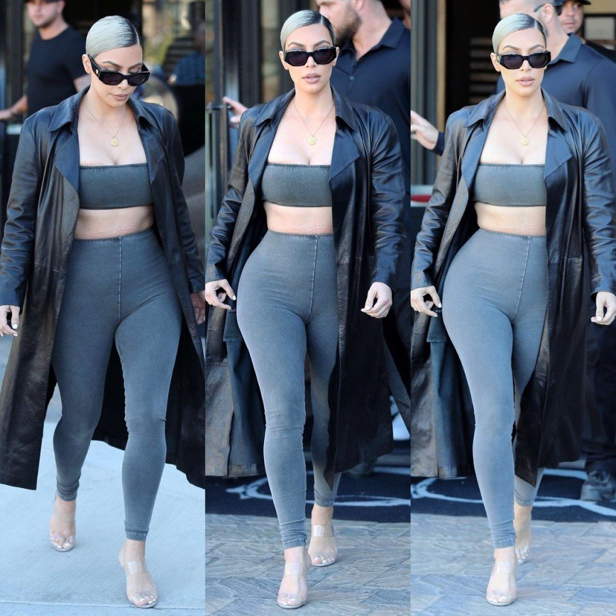 «Юбку забыла надеть»: Ким Кардашьян носит слишком облегающие леггинсы
