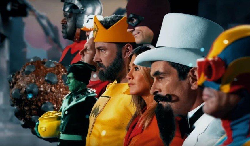 Дженнифер Энистон, Мэтт Дэймон и Бен Аффлек сыграли смешных супергероев