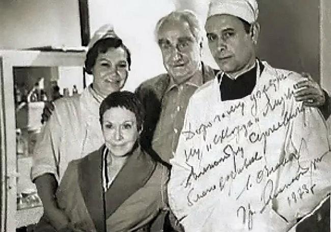 Любовь Орлова с мужем и Александром Шмелевым