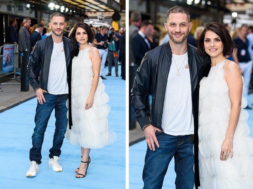 «Какая пара шикарная!»: Том Харди и Шарлотта Райли вместе появились на премьере в Лондоне