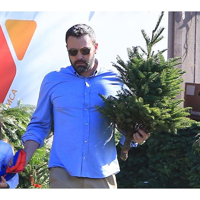 «А был ли развод, господа?»: семейство Аффлек-Гарнер общими усилиями выбрало Рождественскую ёлку