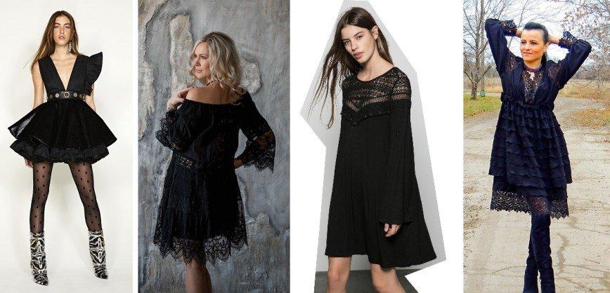 Будь в тренде: маленькое черное платье вновь украшает коллекции дизайнеров