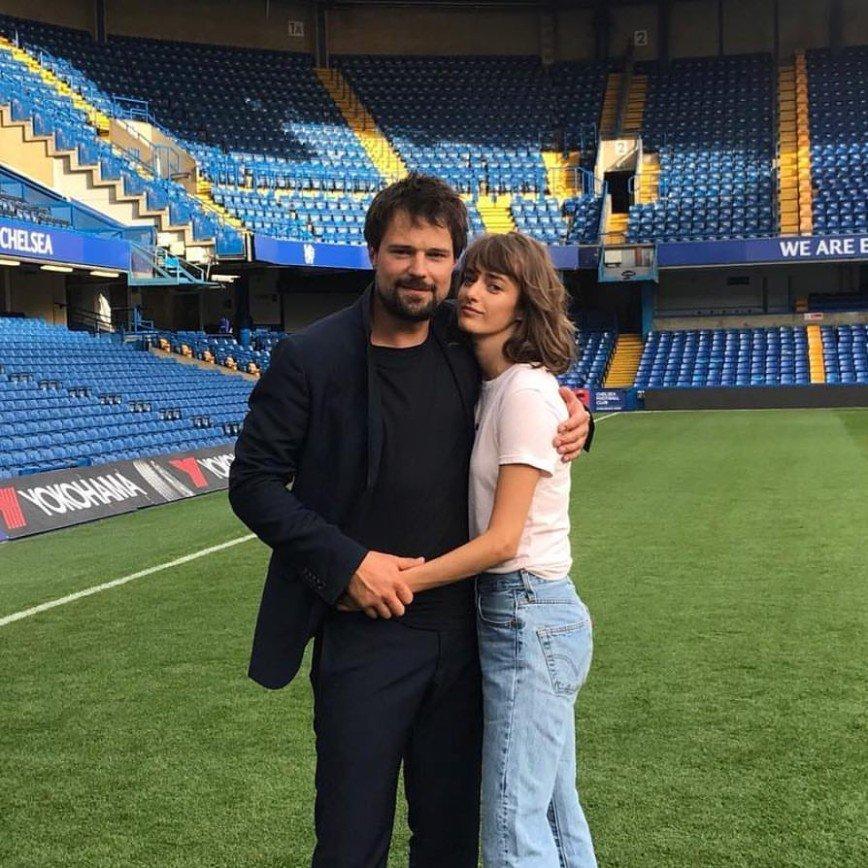 Данила Козловский и Ольга Зуева на премьере фильма «Тренер»