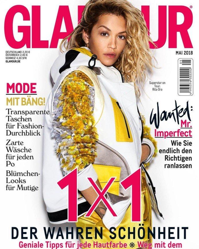 Рита Ора приняла участие в фотосессии для немецкого издания GLAMOUR
