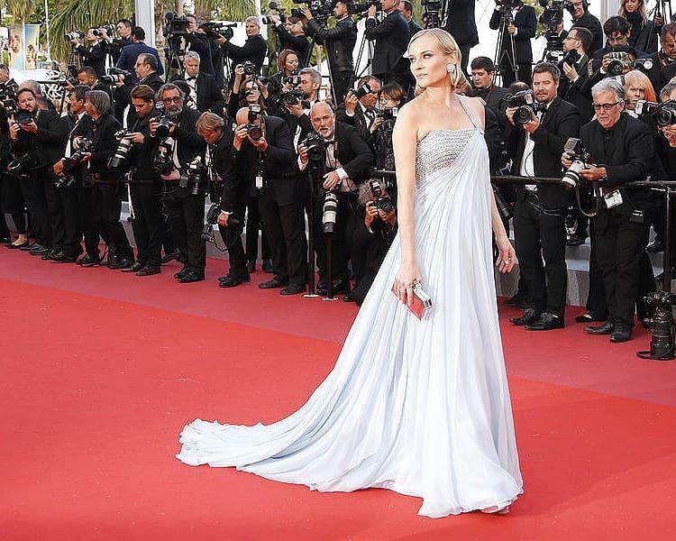 Диана Крюгер очаровала поклонников образом на Каннском кинофестивале