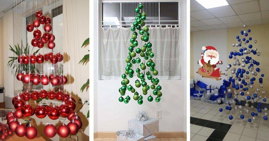 Ракушки, подушки и шарики: самые креативные новогодние елки