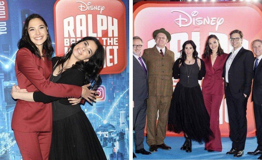Галь Гадот продемонстрировала стильный образ на премьере мультфильма «Ральф против Интернета»
