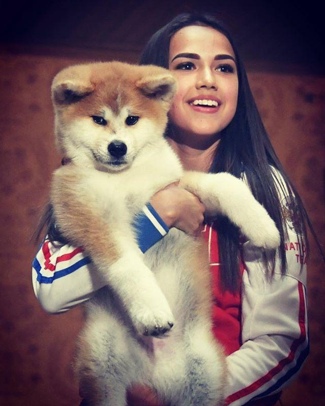 Алина с собакой