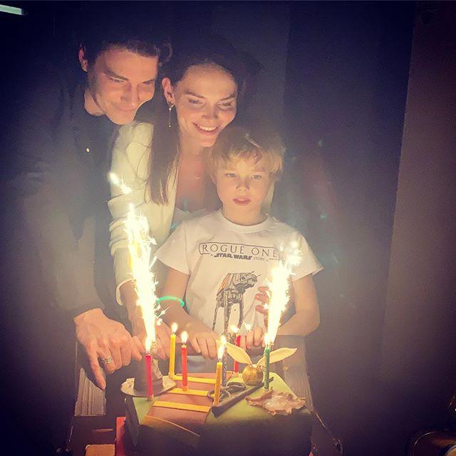 Елизавета Боярская поблагодарила мужа за старшего сына