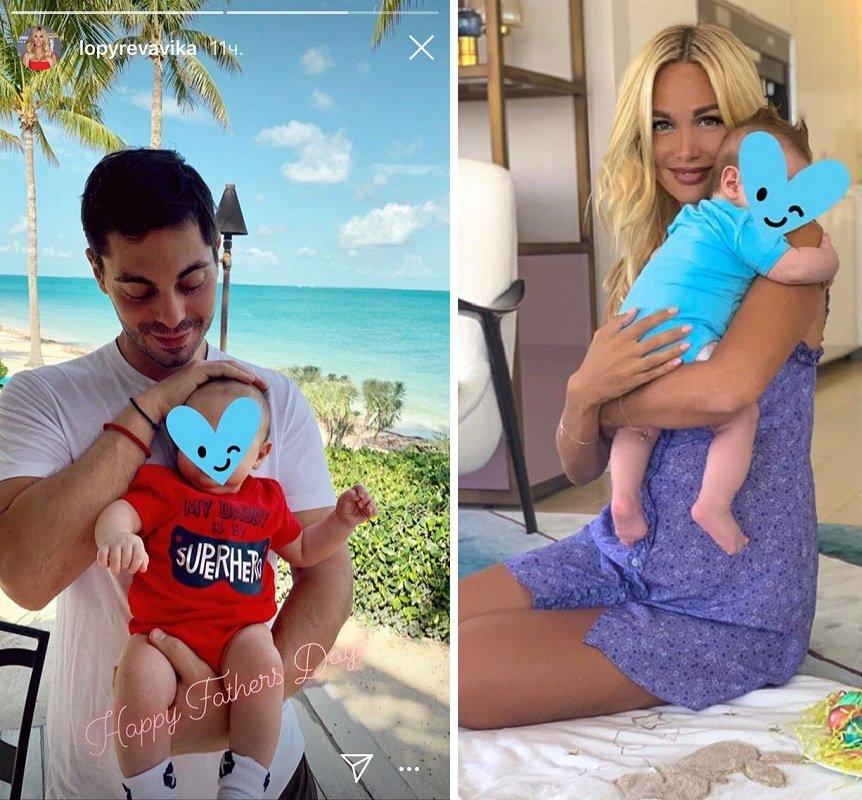 Виктория Лопырева опубликовала нежный снимок любимого мужчины с сыном на руках