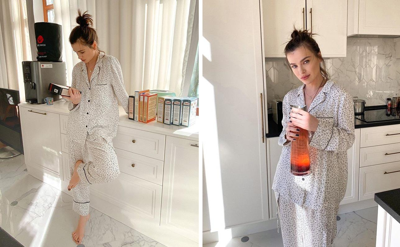 В пижаме, но при макияже! Домашняя мода от именинницы Елены Темниковой