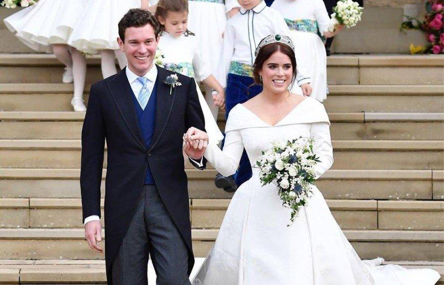 Образы на королевской свадьбе: принцесса Евгения без фаты и Кара Делевинь во фраке