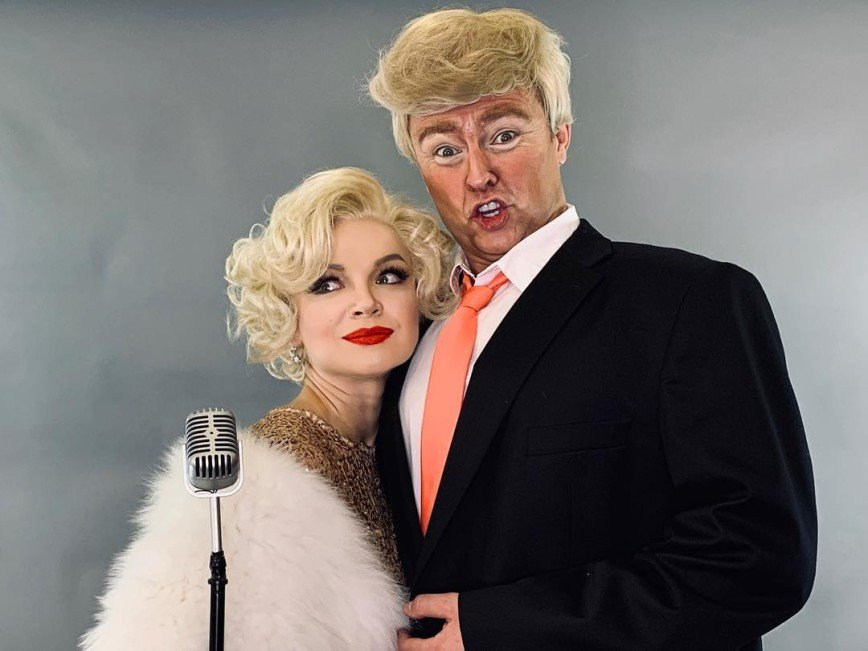 Монро и Трамп: Цымбалюк-Романовская и Шаляпин примерили новые образы