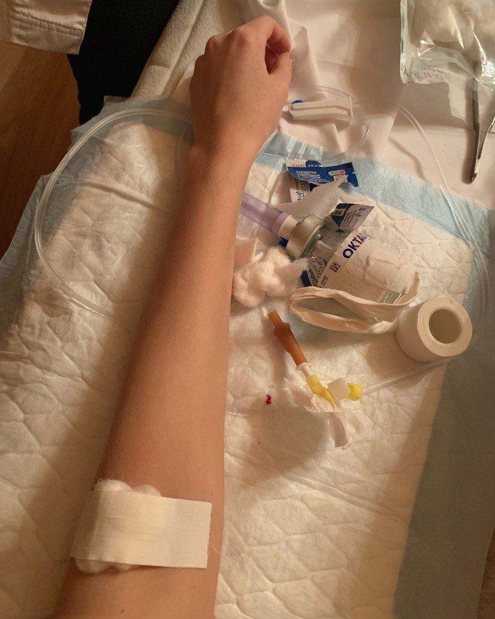 Мария Кожевникова перед новым годом была вынуждена провести курс лечения